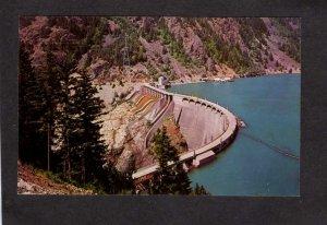 WA Seattle Diablo Power Plant Dam Skagit River Washington State Postcard