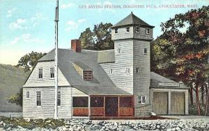 Gloucester MA U. S. Life Saving Station Dollivar's Neck Postcard