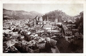 SALZBURG Austria  - early 1910s view of town / No WWI damage
