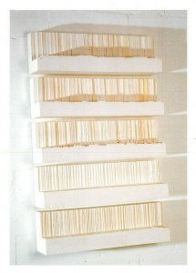 Art Sculpture Postcard, Untitled - Five Shelves (1996) by Rachel Whiteread BC0