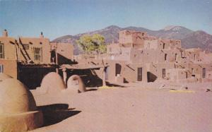 Apartments of a peace-loving agrarian people, Taos Pueblo, Colorado, 40-60s