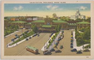 PROVIDENCE RHODE ISLAND - UNION RAILROAD STATION 1930-40s era