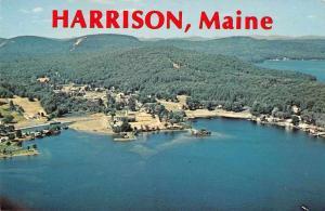 Harrison Maine Aerial View Vintage Postcard JA4741434