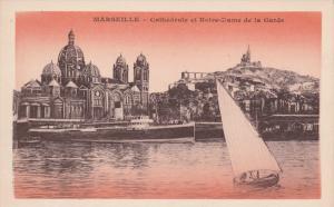 MARSEILLE, Bouches-Du-Rhone, France, 1900-1910's; Cathedrale Et Notre-Dame De...