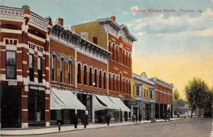 Tipton Iowa~Dentists Caseman & Allen~National Bank~Emerick Shoe~City Hall c1910