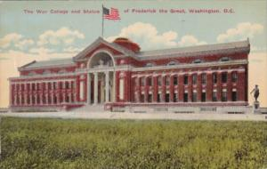 Washington D C The War College and Statue Of Frederick The Great  1912