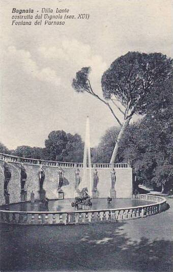 Italy Bagnaia Villa Lante La fontana del Parnaso