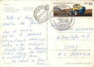 Germany Weimar multi views postcard stamp
