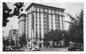 Washington DC Hotel Hamilton Taxi Cab Old Cars RPPC Postcard