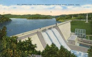 TN - Norris, TVA Storage Project on Clinch River, Norris Dam