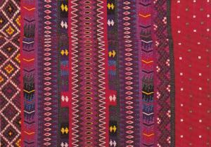 Guatemalan Textile , Girl's Huipile , village of San Antonio Calientes , Guat...
