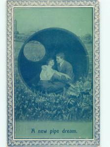 Bamforth ROMANTIC COUPLE Great Postcard AA7480