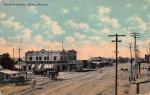 Business Section, Mesa, Arizona, Early Postcard, Used in 1910