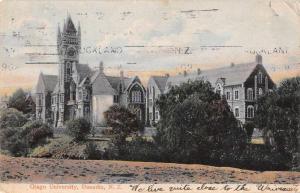 Dunedin New Zealand Otago University Street Scene Antique Postcard J63987
