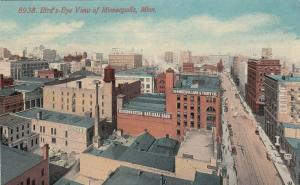 MINNEAPOLIS, Minnesota, 1900-10s; Bird's Eye View