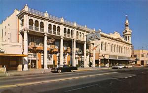 Red Bluff CA~Tremont Hotel~Giant Candy Cane~Zuckweilers Department Store~1950s