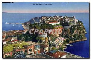 Old Postcard Monaco Rocher