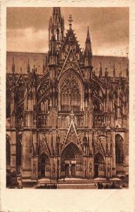 Coln am Rhein Dom Teilansicht Cathedral Front view Postcard