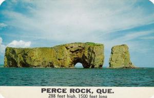 Perce Rock, 288 Feet High, 1500 Feet Long, PERCE, Quebec, Canada, 40-60´s