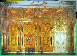 Russia St Petersburg Catherine Palace Amber Room South Wall - unposted
