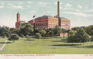 Washington DC U S Bureau Of Engraving And Printing