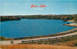Royal Nebraska~Grove Lake~Provides Good Trout Fishing~Small Boat~1960s Postcard