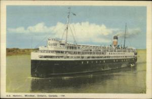 Windsor Ontario Steamship SS Noronic Old Postcard
