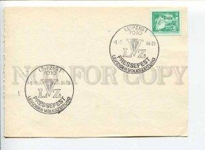 291600 EAST GERMANY GDR 1984 LVZ national newspaper philatelic card