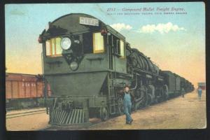SOUTHERN PACIFIC RAILROAD TRAIN ENGINE COMPOUND MALLET FREIGHT TRAIN POSTCARD