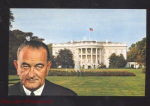 UNITED STATES PRESIDENT LYNDON B. JOHNSON VINTAGE POSTCARD