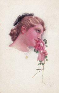 USABOL ; Female Head Portrait , Rose , 00-10s