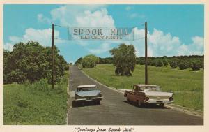 Spook Hill FL, Florida near Lake Wales - Cars roll uphill illusion