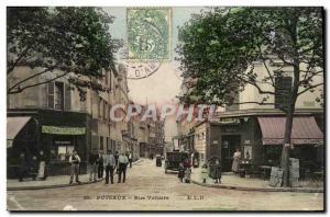 Postcard Old Puteaux Rue Voltaire Restaurant