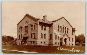 Slippery Rock PA~Model State Normal School~Students on Sidewalk~1914 RPPC