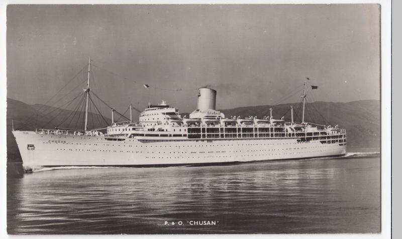 SS Chusan, P&O Line Advertising RP PPC, Unposted c 1960's