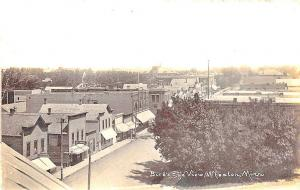 Wheaton MN Bird's Eye View Store Fronts in 1915 RPPC Postcard
