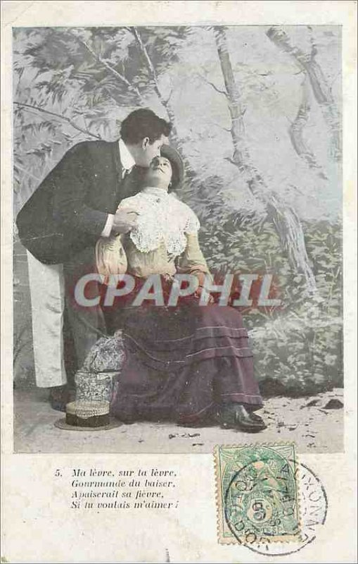 Old Postcard My Lip Lip Gourmande on your Kiss Fever appease her if you love ...
