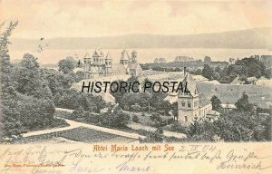ABTEI MARIA LAACH mit SEE GERMANY~JOS. HOSS 1914 PHOTO POSTCARD