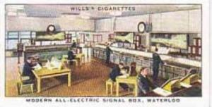 Wills Vintage Cigarette Card Railway Equipment 1938 No 47 Modern All-Electric...