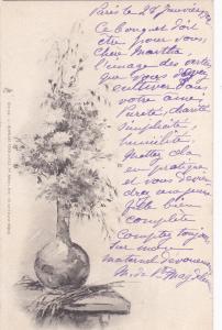 TUCK #132; Still Life, Vase with wild flowers, PU-1902