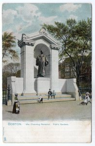 Boston, Mass, Wm. Channing Memorial, Public Gardens