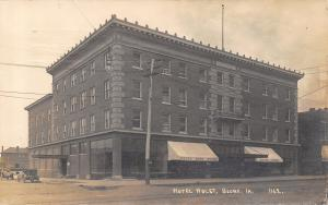 Boone Iowa~Hotel Holst~3 Doors From Uncle~Eades Book Store~Singer~Cars~1911 RPPC