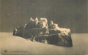 Postcard Belgium La fortresse de Logne replica