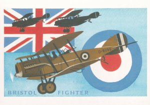 Bristol Fighter WW1 Plane Royal Mail Advertising Poster Postcard