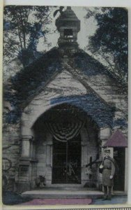 1900s President McKinley Tomb Canton OH Postcard Soldier Guarding Entrance