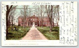 Williamsburg Virginia~William & Mary College~Cannon Display~1902 Postcard