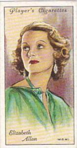 Player Cigarette Card Film Stars 2nd Series No 1 Elizabeth Allan MGM
