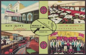 Math Igler's Casino,Chicago,IL Postcard