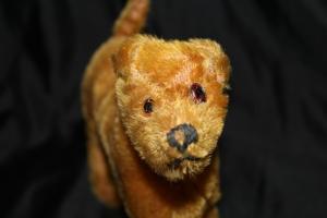 Antique Vintage Mohair Irish Terrier Gwen Steiff? Stuffed Toy Dog Missing Button