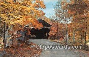 Covered Bridge Vintage Postcard Old Covered Bridges unused